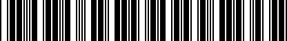 Barcode for DRG019801